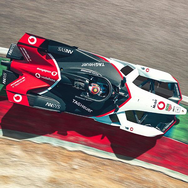 Porsche formula e from above