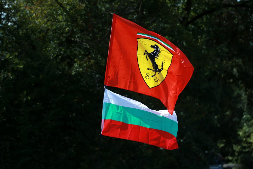 Ferrari flag at Italian GP in Monza