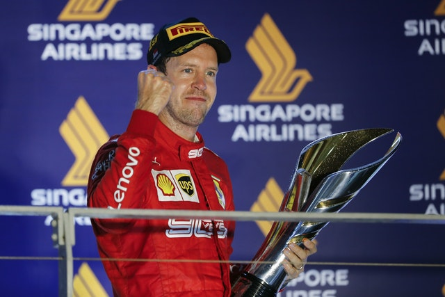 Vettel ended his long wait for a win