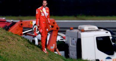 Ferrari crash in Brazil 2019