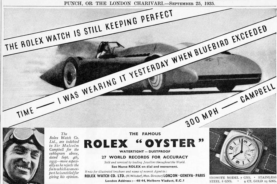 Rolex Daytona 300mph racing ad