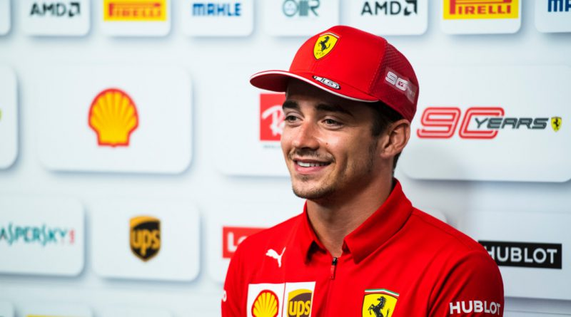 Charles Leclerc spoke on the main stage at Autosport International