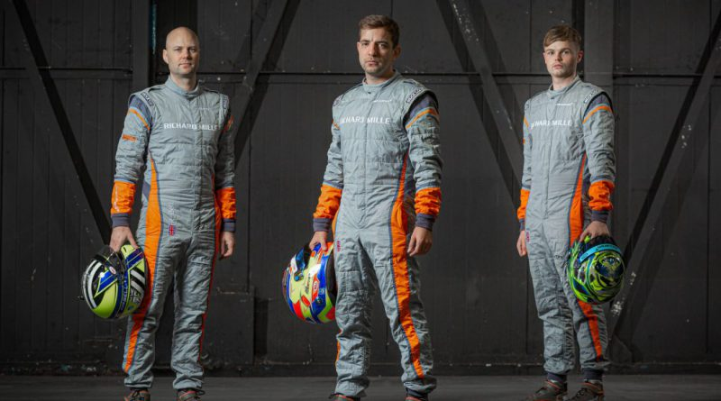 McLaren drivers Rob Bell, Joe Osborne and Ollie Wilkinson.