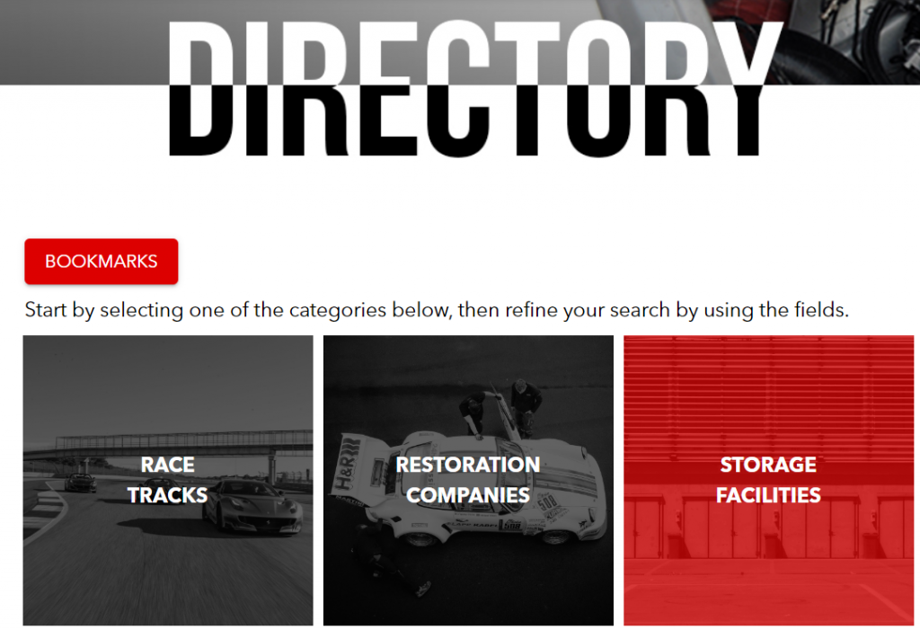 Racing Edge Directory Bookmarks