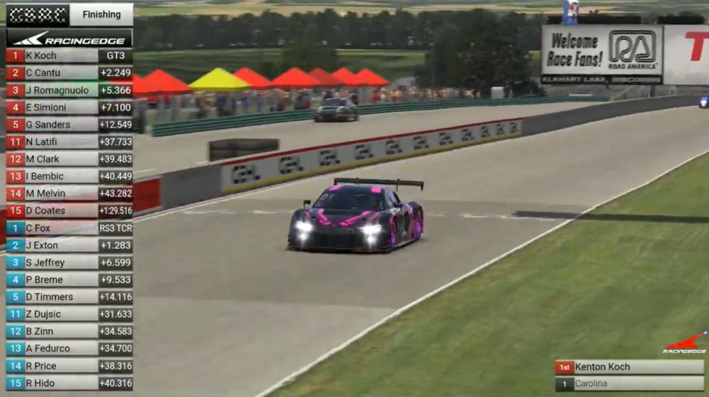 Racing Edge SimRacing winner